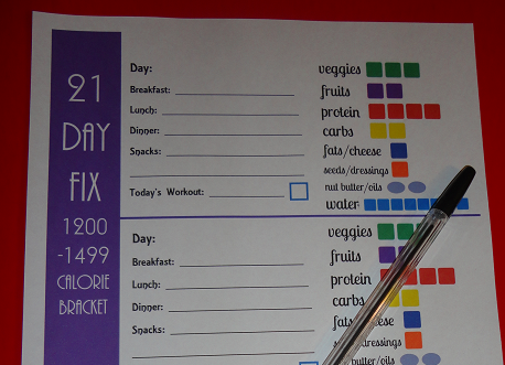 This is a photo of 21 Day Fix Workout Schedule Printable regarding piyo
